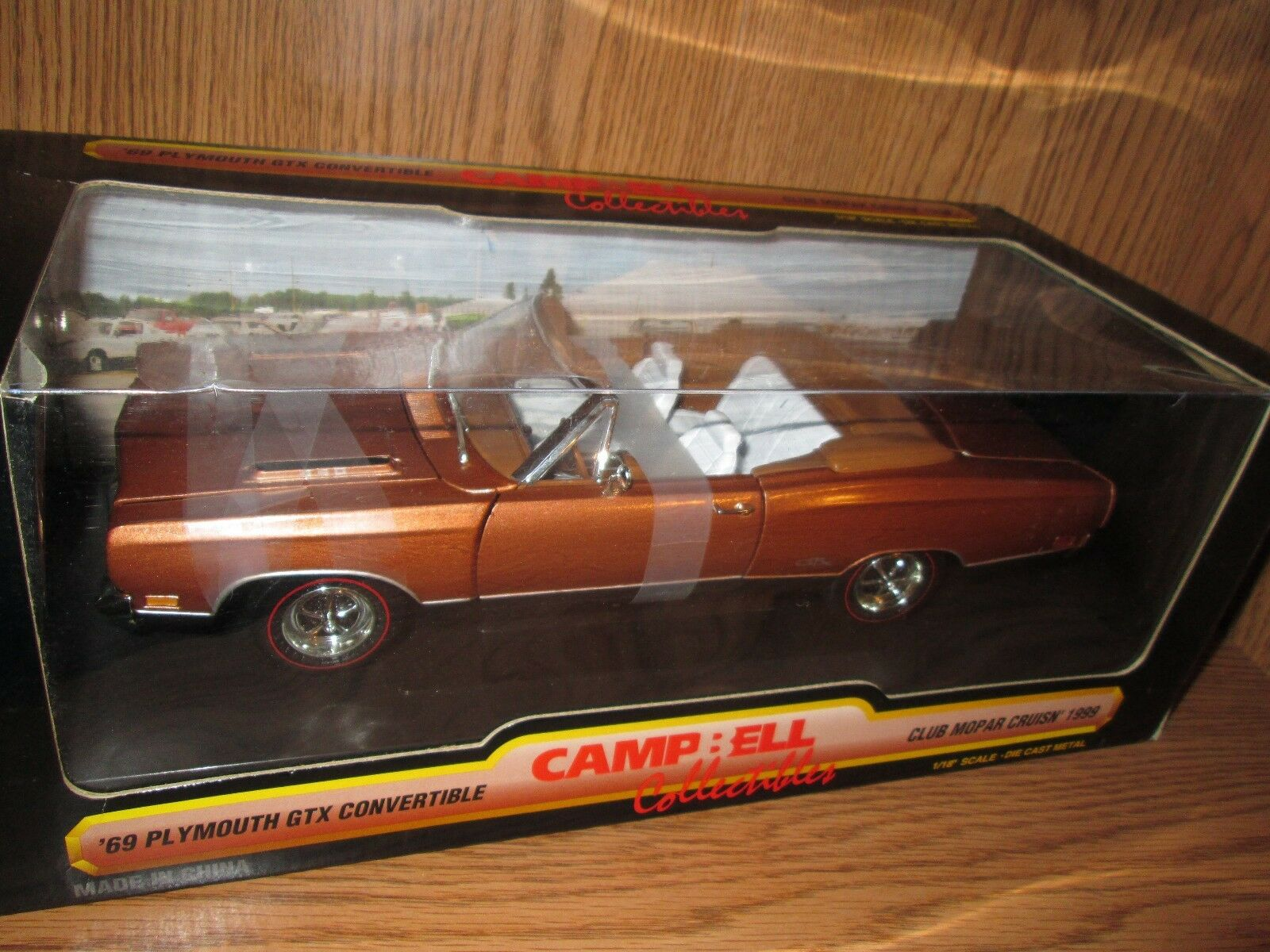 69 plymouth GTX convertible club MOPAR campbells  american muscle 1/18 1999
