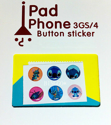 iPhone Home Button Stickers for Apple iPhone 5 / 4 4S 3GS iPad 1 2 3 4 Stitch