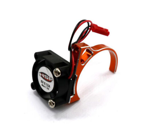 540 550 Motor Heat Sink w// Cooling Fan 5V for 1//10 HSP RC Car 540//550 3650 Motor
