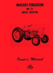 Massey-Ferguson-MF-25-MF25-Diesel-Tractor-Owners-Operators-Manual