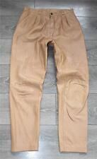 "Vintage Brown Leather MAURITIUS Riding Biker Trousers Pants Jeans Size W29"" L29"""