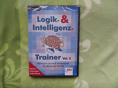 Intelligenz Trainer Vol.2 Denksportspiele Knobelspaß Pc-rom,verstand,Übu Logik