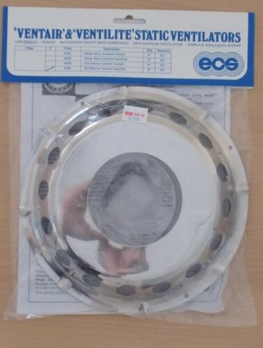 """ECS Stainless Steel 9/"""" Covered Ventilite Vent for Boats 4205 Yacht Marine"""