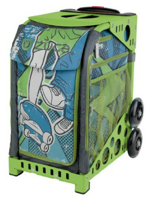 Zuca Ollie Sport Insert Bag & Green Frame w Flashing Wheels