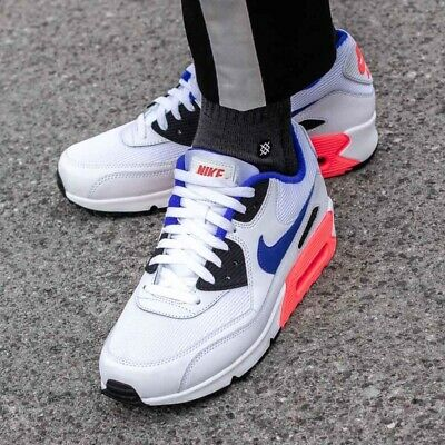 Schuhe NIKE Air Max 90 Essential 537384 136 WhiteUltramarineSolar Red