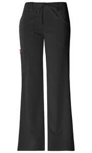 Scrubs-Dickies-Xtreme-Stretch-Drawstring-Flare-Pant-82011-Black-FREE-SHIPPING