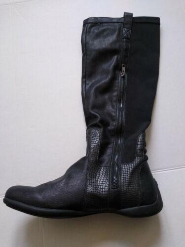 DKNY Anastasia Black Embossed Size 10 Boots