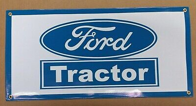 """FORD TRACTOR  BLUE   BANNER 24/"""" X 12/"""""""
