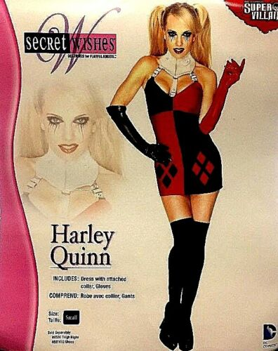 Secret Wishes Harley Quinn Adult Fancy Dress Costume Small