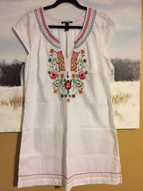 Women's lucky brand dress - Color Cream /floral Size L