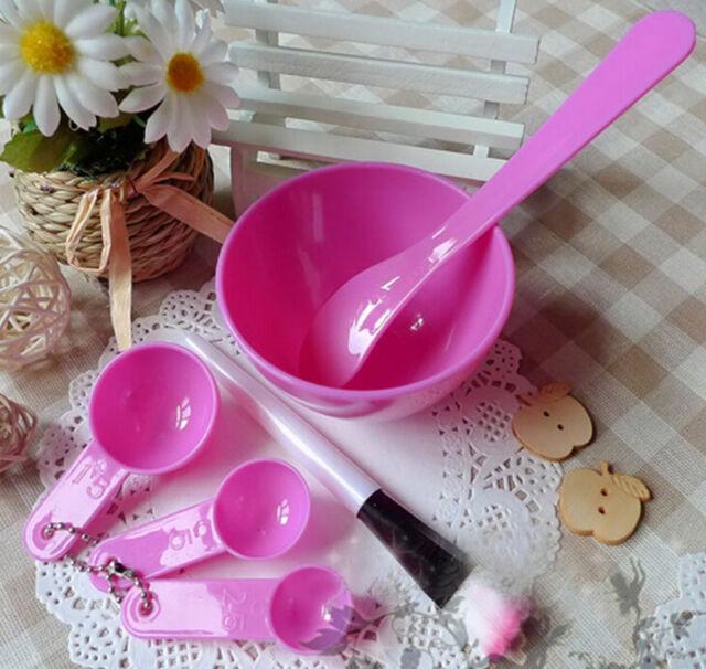 Hot  6in1 Makeup Beauty DIY Facial Face Mask Bowl Brush Spoon Stick Tool Set SH