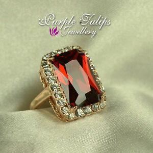 18K-Rose-Gold-Plated-Gorgeous-Luxury-Large-Ruby-Ring-Made-With-SWAROVSKI-Crystal