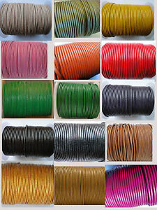 100-Real-Round-Leather-Cord-1-1-5-2-3-4-5-MM-String-Lace-Thong-Jewellery-HQ