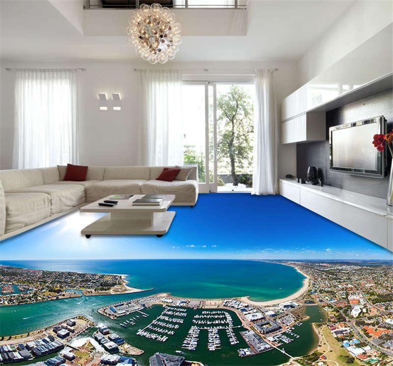 Mandurah Australia Beach 3D Floor Mural Photo Flooring Wallpaper Home Wall Decal