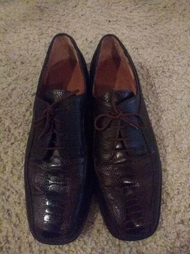 Salvatone Ostrich Leg Shoes size 8.
