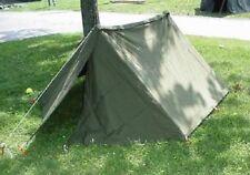 "US Military USGI Shelter Half Tent ""Pup"" Kit w/ 2 Halves, Poles, Stakes, Ropes"