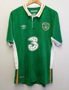 the latest 7dc20 a5165 Details about REPUBLIC OF IRELAND 2016 - 2018 FOOTBALL SOCCER HOME SHIRT  UMBRO SIZE XL