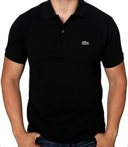 Lacoste-Men-039-s-Short-Sleeve-Classic-Cotton-Pique-Polo-Shirt-L1212-51-031-Black