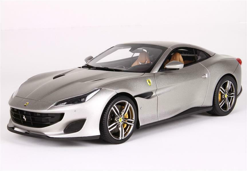 Ferrari Portofino cerrada. techo Matt aluminio 1 18 - p18157b BBR Models