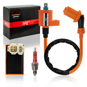 Racing-6-Pin-CDI-Ignition-Coil-Spark-Plug-for-GY6-50cc-125cc-150cc-Moped-Scooter