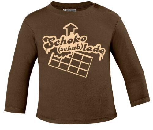 LADE Creme print Baby-Longsleeve Shirt Schub SCHOKO