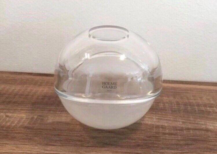 Glas, 2-delt skål, Holmegaard
