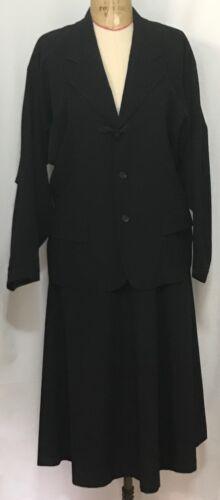 Vintage 1980's Comme Des Garcon Black Women's Suit