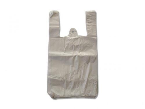 2000x Tragetaschen Plastiktüten Hemdchentragetaschen 13my Tüten 30x18x55cm weiß