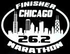 2017 or any year CHICAGO Marathon Finisher IL Decal i Pad Suit case,Car Window