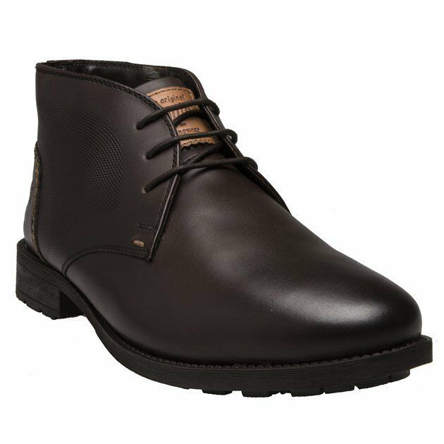New Mens Penguin braun Branson Leather Stiefel Chukka Lace Up