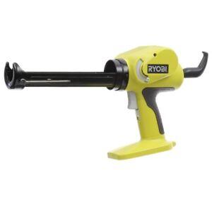 Cordless Power Caulk Adhesive Gun Heavy Duty Tool Variable Speed 18 Volt Ryobi
