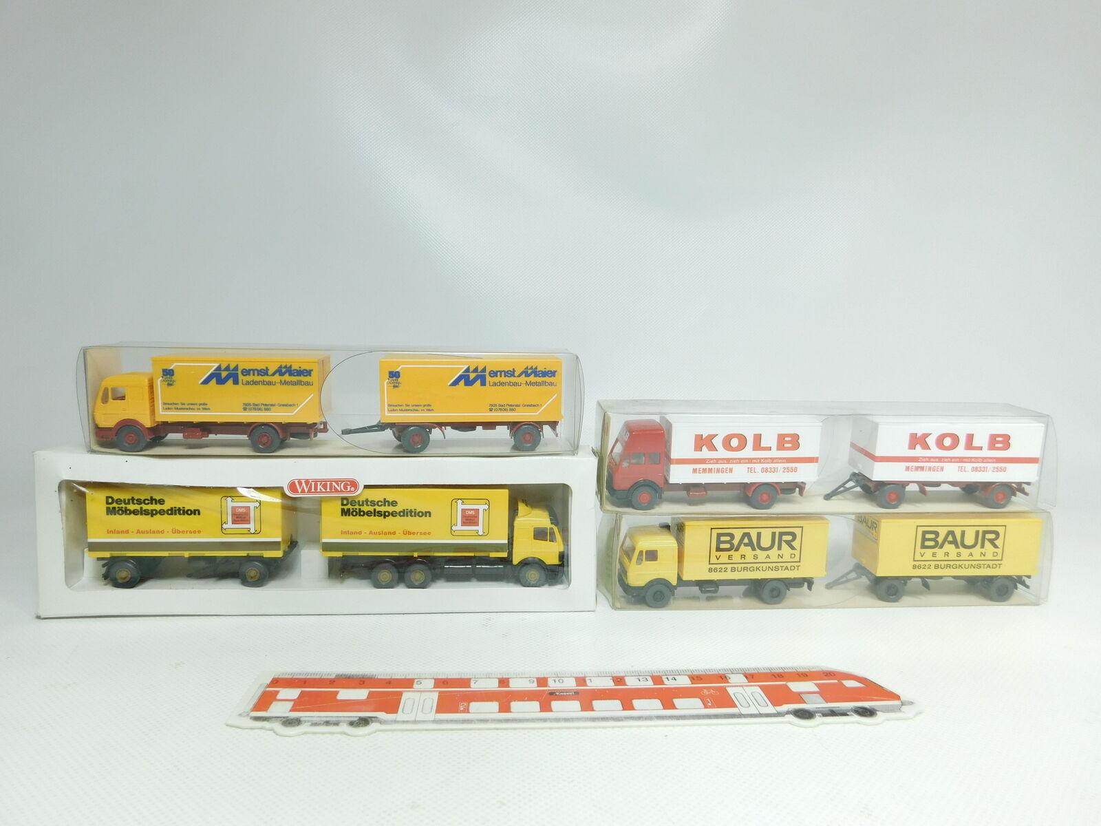 BJ495-0,5  4x Wiking H0 1 87 LKW MB  459 1 Baur  459 2  459  573, NEUWOVP
