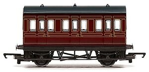 LMS 4 Wheel Coach 00 Gauge RailRoad Hornby Train R4671