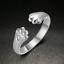 Femme Fashion Mariage bijoux argent 925 plaqué Cat/'s Paw Shaped Réglable Anneau