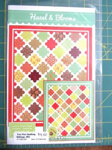 "Fig Tree /& Co /""Hazel /& Blooms/"" Quilt Pattern 50/"" x 59/"" or 76/"" x 90/"""