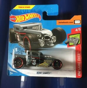 Hot-Wheels-BONE-SHAKER-Game-Over-4-5-NEW-2019-Grey-Silver-BOXED-SHIPMENT