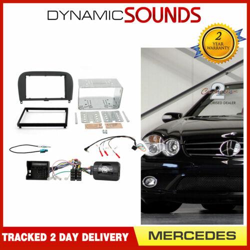 Ctkmb 08 Double Din Fascia direction antenne kit de montage pour Mercedes SL 2004-2014