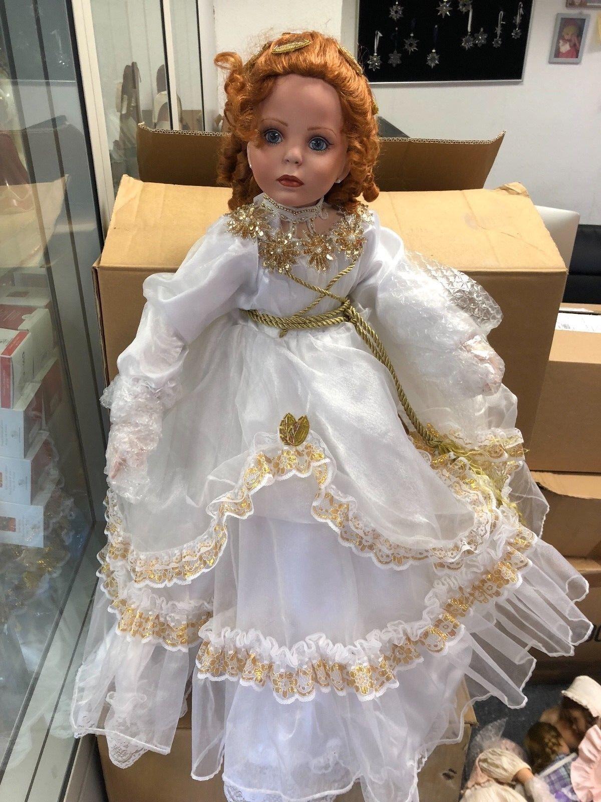 Rustie Rustie Rustie   damen Rubert ⭐⭐  Porzellan Puppe 80 cm. ⭐⭐  Top Zustand 54edd3