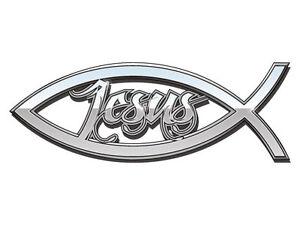 Jesus-Fish-Cut-Bumper-Sticker