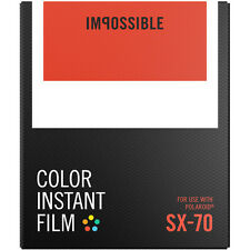 Impossible Instant Color Film for Polaroid Sx-70 Cameras (white frame)