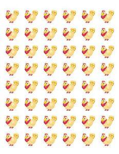"""30 Chicken Stickers labels envelope seals 1.5/"""" round"""
