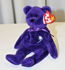RARE Authentic 1st Edition Princess Diana 1997 Retired Beanie Baby PVC Pellets