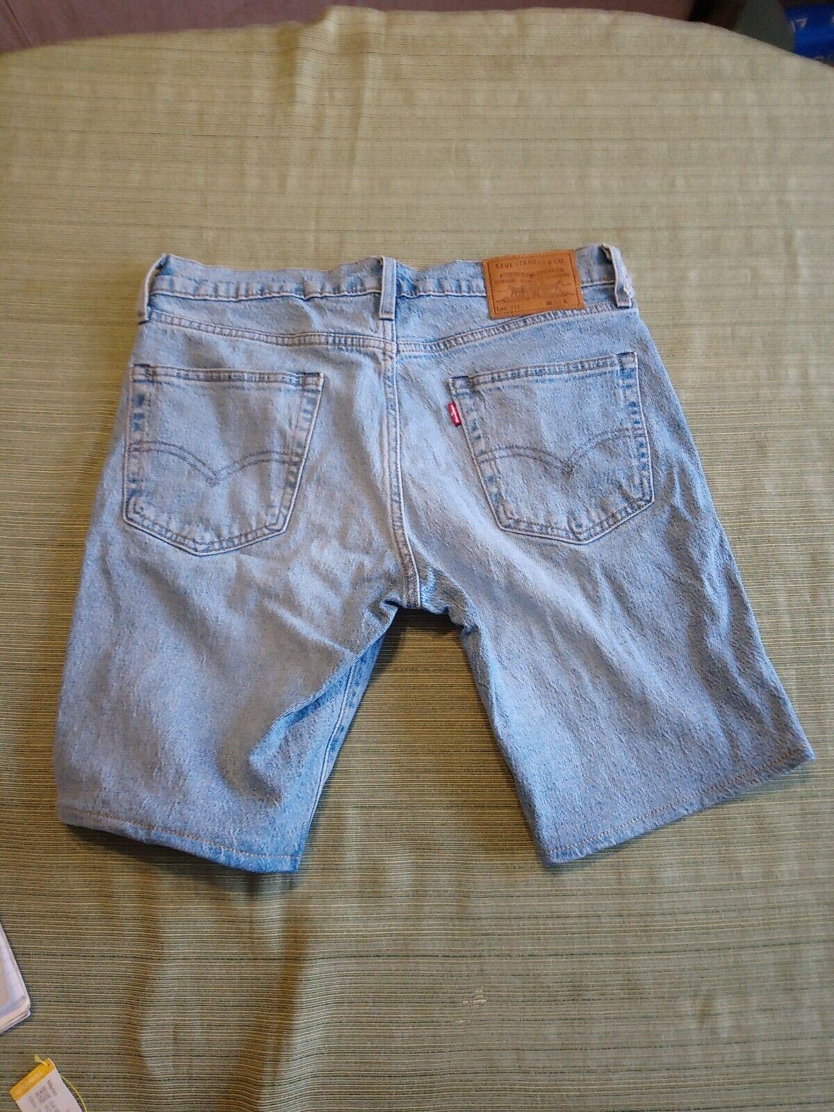 Levis 511 Big E Denim Shorts Size 32 - image 2