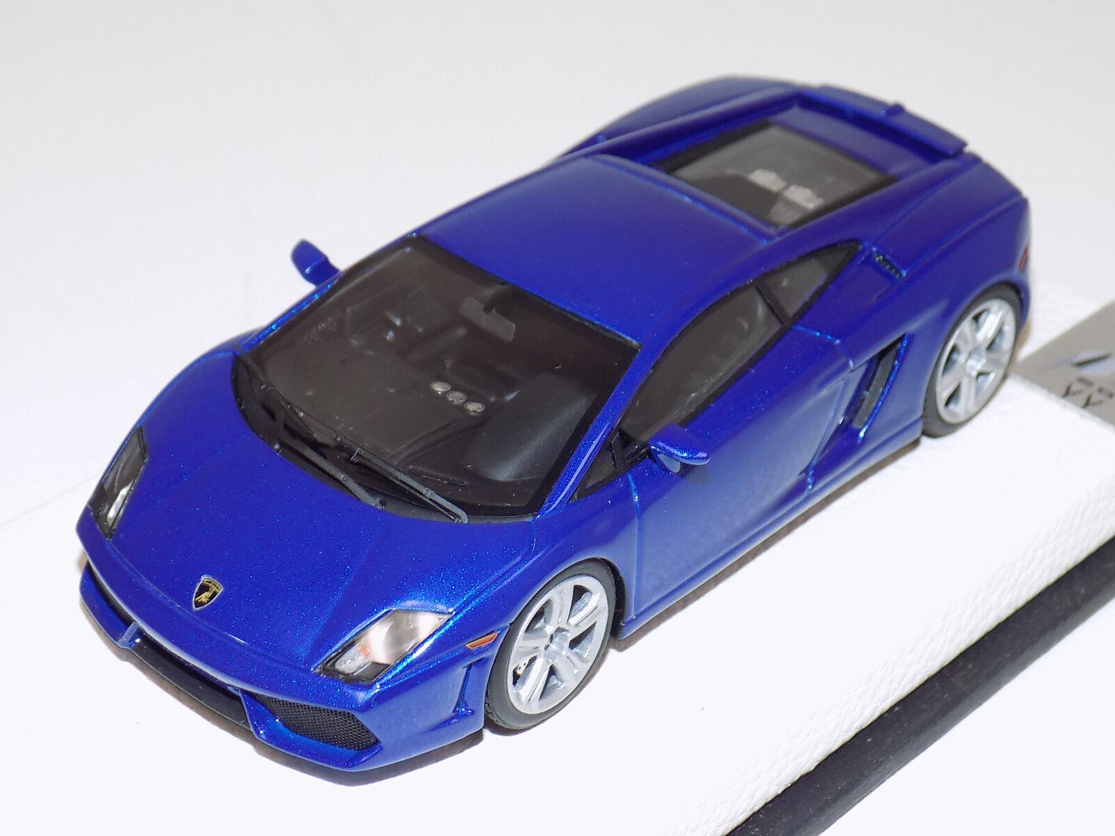 1 43 MR Lamborghini Gallardo LP 560-4 2008 bluee Caelum Leather Base Lim. 20