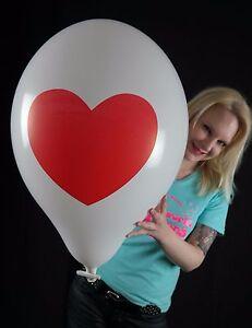 3 x gro e tuftex 17 luftballons herz heart love liebe tuf tex ebay. Black Bedroom Furniture Sets. Home Design Ideas