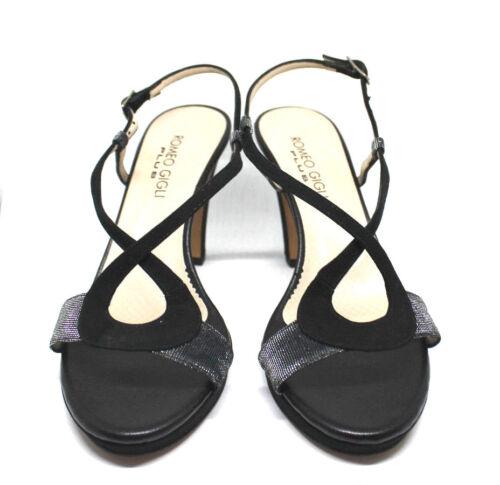 Femme En Chaussures Laethe Moyen Noires Cérémonie Talon En Cuir Fabriqué Chaussures Sandales Italie fq1g5W