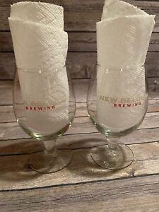 2-NEW-BELGIUM-BREWING-COMPANY-STEMMED-BEER-GLASSES-0-4-l-16-oz
