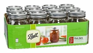 Ball-61000-Regular-Mouth-Glass-Mason-Jars-with-Lids-amp-Bands-Pint-12-Count
