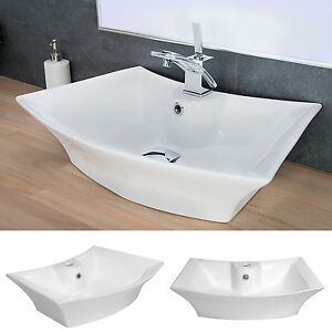 Details Zu Design Keramik Waschbecken Aufsatzwaschbecken Waschtisch Badezimmer Waschplatz