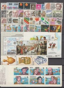 SPAIN-ESPANA-YEAR-1987-COMPLETE-WITH-ALL-THE-STAMPS-MNH
